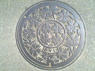 甲府市のマンホール