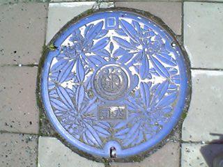 米沢市の雨水マンホール