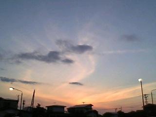 5月25日の夕焼け空