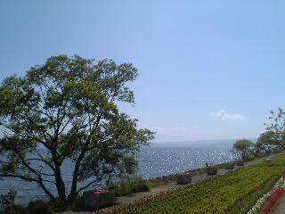 猪苗代湖「上戸浜」