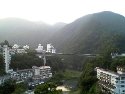 ロビーからの眺め@会津・芦ノ牧温泉 新湯