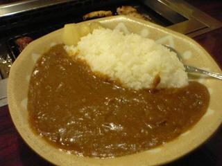 めちゃカレー、…焼肉の〆にカレー!?