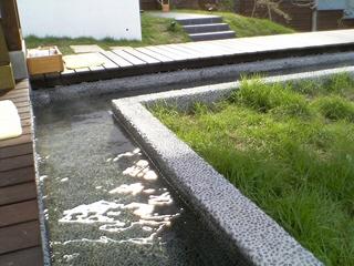 東山温泉、原瀧&今昔亭の川床と足湯