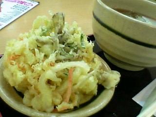 かきあげそば@麺処すいれん、蓮田SA