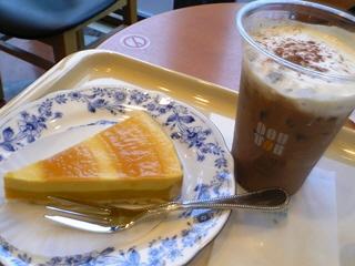かぼちゃのタルト&アイスカフェモカM@ドトール