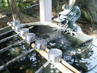 新宮熊野神社、水屋の龍