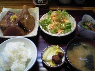 豚角煮定食@渡