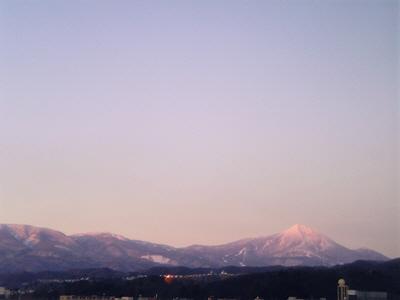 紅い磐梯山