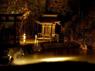 厳島神社ライトアップ@飯盛山
