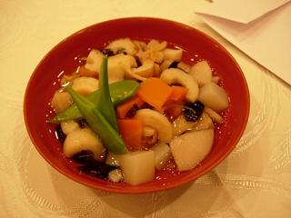 会津の伝統料理こづゆ@ヴィラ・イナワシロ(猪苗代町)