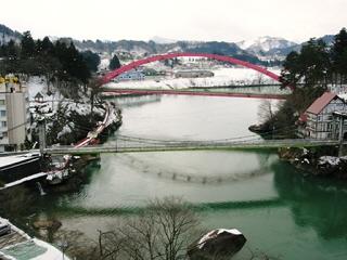 圓蔵寺(菊光堂)から眺めた只見川