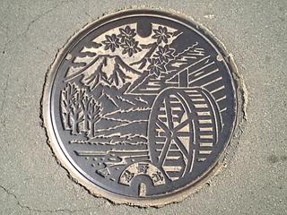 忍野村のマンホール