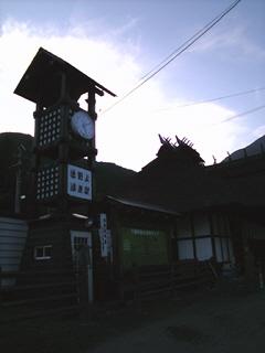 時計&公衆電話BOX@湯野上温泉駅