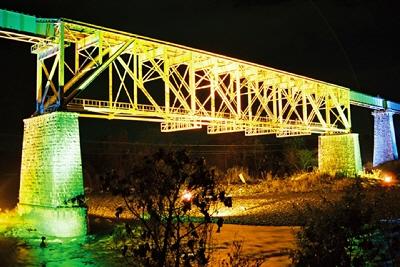 一の戸橋梁ライトアップ@喜多方市山都町