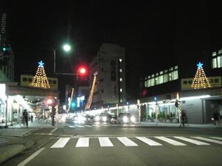 会津若松市の神明通り(北側より)