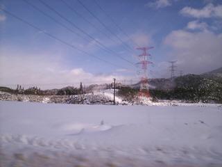 山形県上山市の雪景色