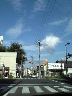 福島市天神町の交差点。(小学校が角にあります)