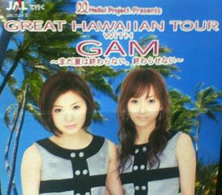 松浦亜弥さん専門ブログ あやや GREAT HAWAIIAN TOUR GAM チラシ