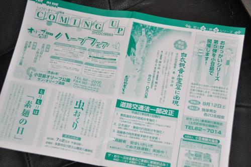 夏至観音の新聞チラシ