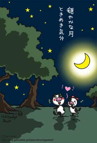 穏やかな月