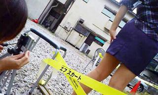 081019エフスカートチラシ写真撮影