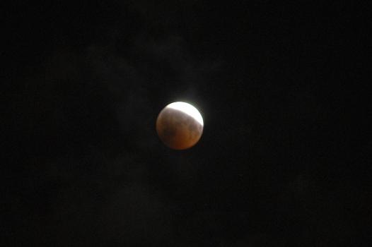 月食ピーク前