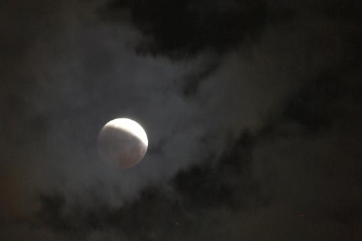 月食ピーク後