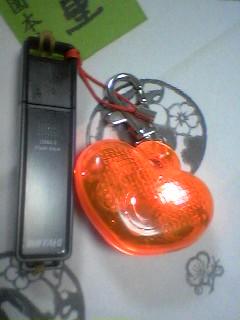 USBメモリー亡くさない様にキーホルダーを=3