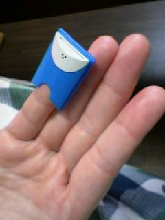 可愛い妻の小指に。。。。w