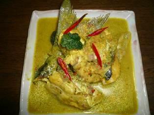 ikan masak gulai kampong