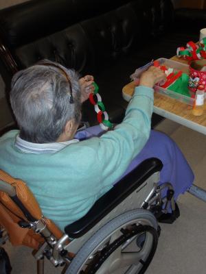東京都 足立区 介護老人保健施設(入所・短期入所・通所リハビリ) 千寿の郷 クリスマス 飾りつけ