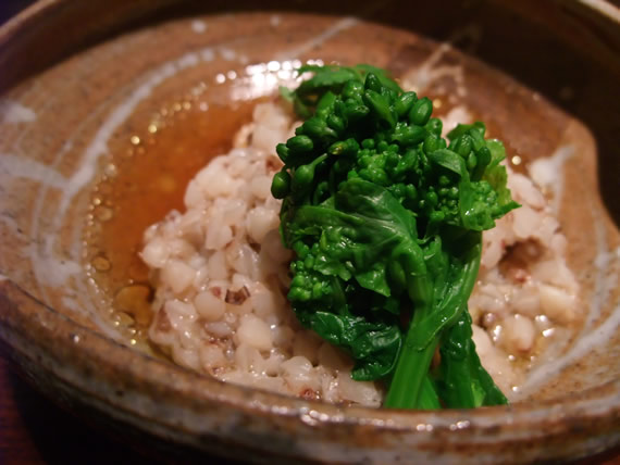 雉肉のそば米蒸し