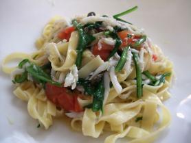 白魚チェリートマトのタリアテッレ