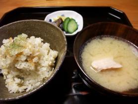 鮎松ご飯と鯉こく