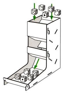 ダイスタワー:サイコロ適用図