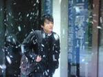ぼた雪の中…