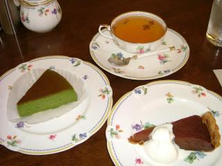 ル・ペール タルトタタン&抹茶チーズケーキ