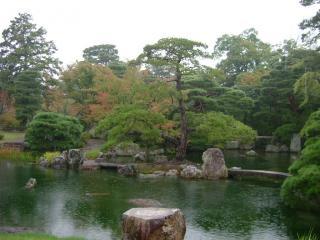 桂離宮 松琴亭より 北側庭園