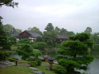 桂離宮 松琴亭より 南西側庭園