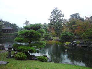 桂離宮 松琴亭より 西側庭園