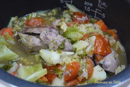 鶏レバーと野菜