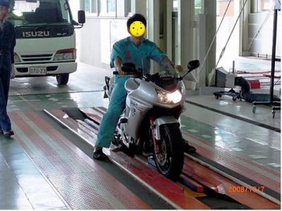 Ninja650R車検場1