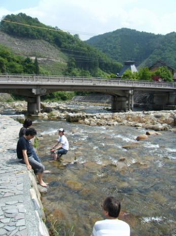 奥津温泉河原