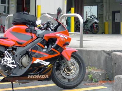 Ninja650R車検場2