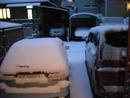 掃除屋さんの雪の朝