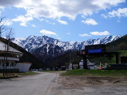 山の上のスキー場
