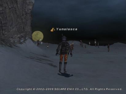 海岸で大きな満月見つけました!
