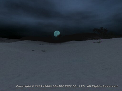きれいな色のお月さま