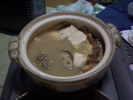 アナゴ入り湯豆腐