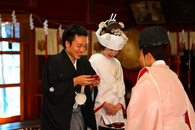結婚式 神前挙式 猿賀神社 ハラコ企画 スナップ ハッピー フォト